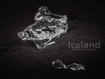 Ice Diamond    Black and White Photography by Wayne Heim