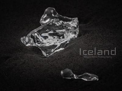 Ice Diamond    Black and White Photography by Wayne Heim