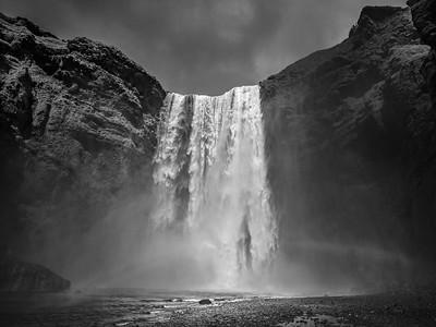 Skogafoss   Black & White Photography by Wayne Heim