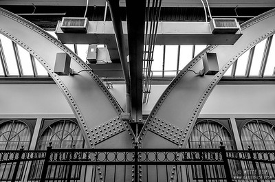 Station Supports --Black and White Photography by Wayne Heim