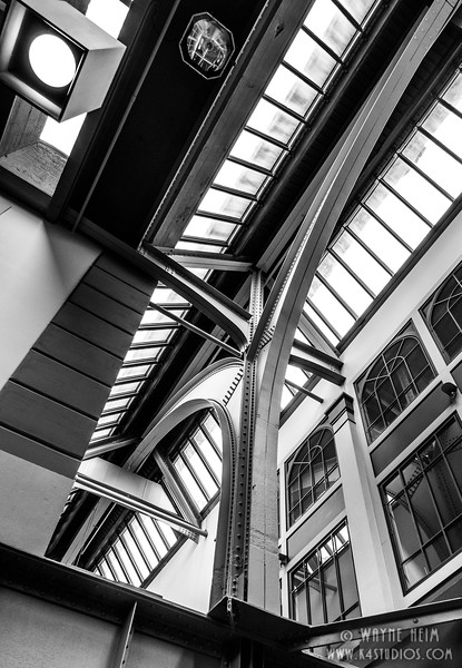 Station Ceiling - Black & White Photography by Wayne Heim