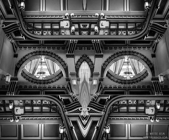 Balcony  Black & White Photography by Wayne Heim