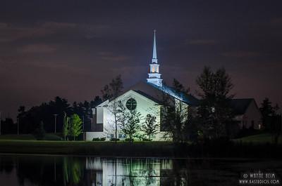 Night Church  Photography by Wayne Heim