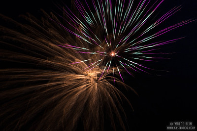Fireworks 3    Photography by Wayne Heim