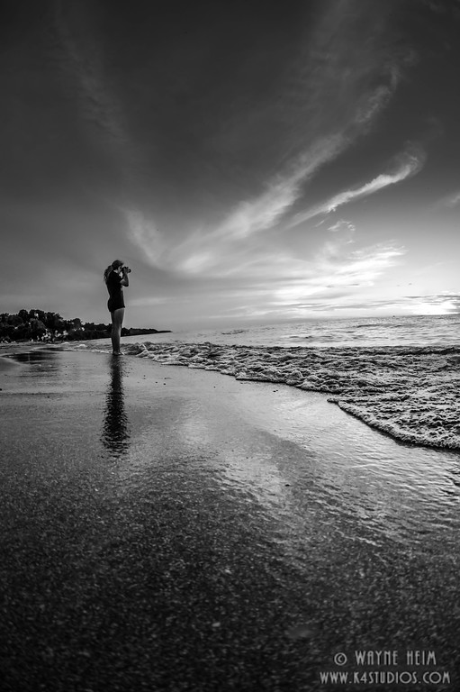 Snapping Sunset - Black & White Photography by Wayne Heim