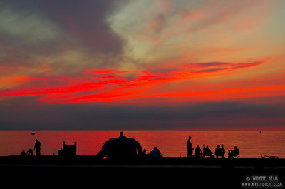 Beach at Sunset  Photography by Wayne Heim