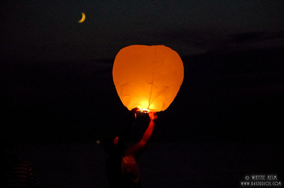 Chinese Wish Lights     Photography by Wayne Heim