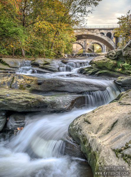 Falls Below the Bridge    Photography by Wayne