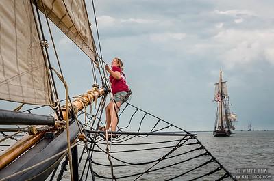 Adjusting the Rigging     Photography by Wayne Heim