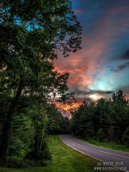 Blazing Sunset   Photography by Wayne Heim