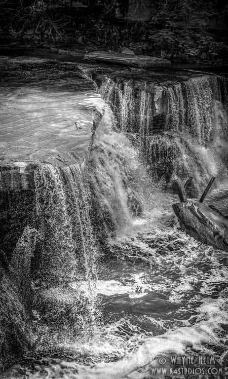 Gentle Falls Too - Black & White Photography by Wayne Heim