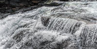 Rushing Falls - Black & White Photography by Wayne Heim