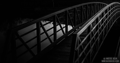 Night Walk - Black & White Photography by Wayne Heim