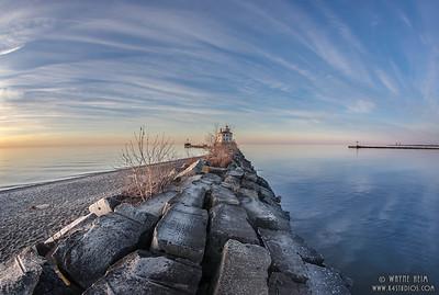 Approach to Fairport Lighthouse(H)  Photograph by Wayne Heim