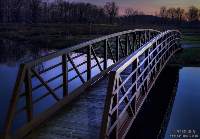 Twilight Bridge   Photography by Wayne Heim