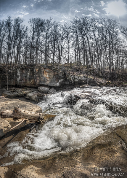 Rushing Rapids. Photography by Wayne Heim