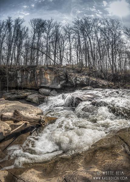 Rushing Rapids. Photography by Wayne Heim
