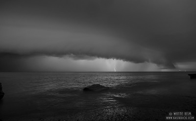Lightening on the Lake    Photography by Wayne Heim