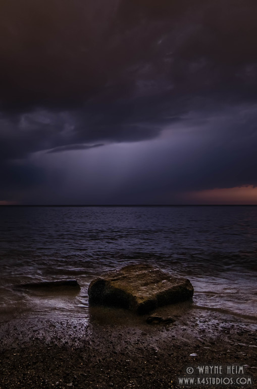 Storm at Sunset  Photography by Wayne Heim