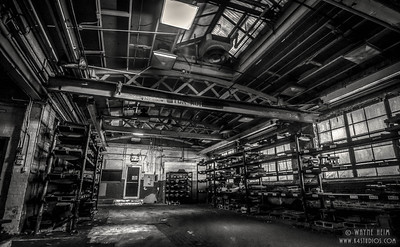 Stockroom of Forge - Black & White Photography by Wayne Heim