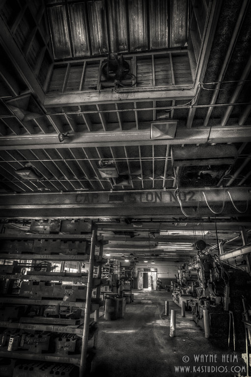 Interior of Forge - Black & White Photography by Wayne Heim