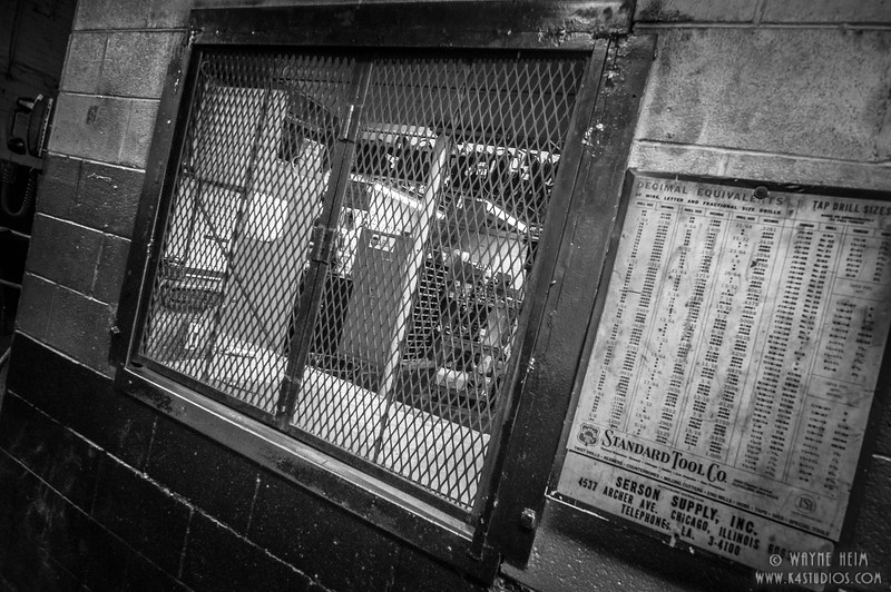 Parts Room -- Black & white Photography by Wayne Heim