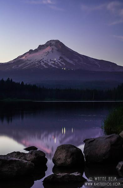 Sunset on the Hood(V)  Photography by Wayne Heim