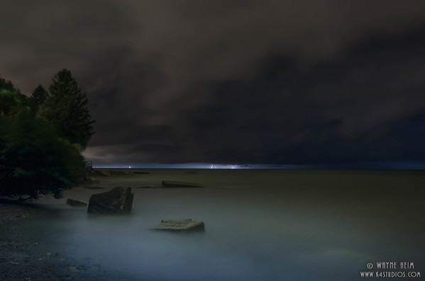 Lake Erie Lightning   Photography by Wayne Heim