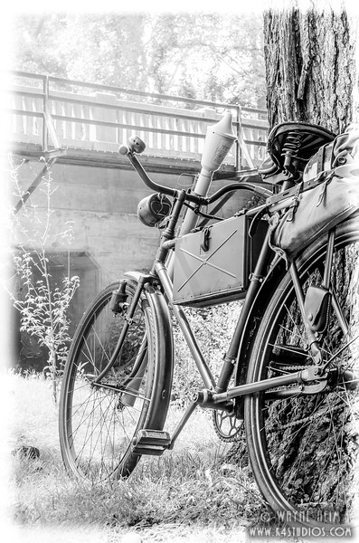 WW II Bicycle   Black & White Photography by Wayne Heim
