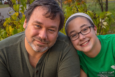 Father and Second Daughter  Photography by Wayne Heim