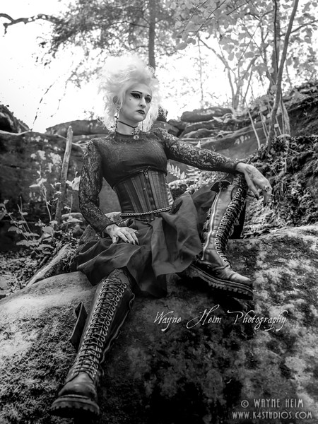 Goth    Black and White Photography by Wayne Heim