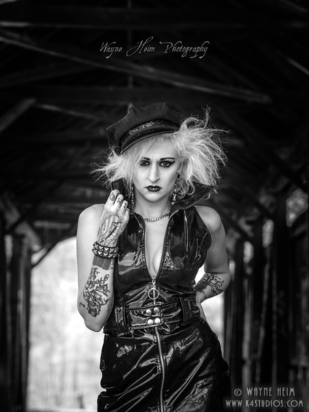 Portrait of a Goth   Black & White  Photography by Wayne Heim