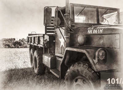 Army Truck   Black & White Photography by Wayne Heim