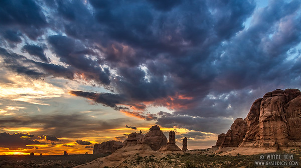Sunset in Arches  #1   Photography by Wayne Heim