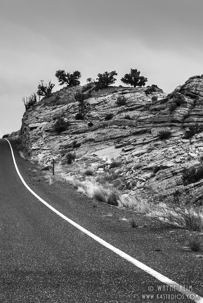 Over the Hill -- Black & White Photography