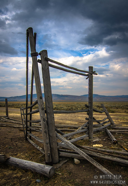 Broken Fence  photography by Wayne Heim