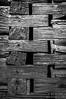Meshing Logs - Black & White Photography by Wayne Heim