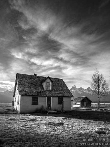 Ye Olde Ranch House  Black and White Photography by Wayne Heim