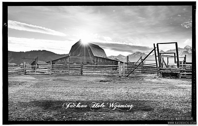 Barn Reflection   Black and White Photography by Wayne Heim