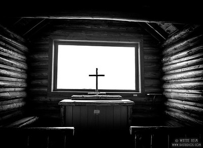 Rustic Altar    Black & White Photography by Wayne Heim