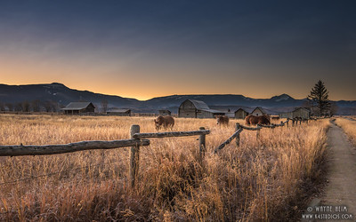 Sunset on the Ranch  Photography by Wayne Heim