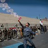 A newly recruited Shiite fighter, known as Houthi, displays his skills during a parade aimed at mobilizing more fighters into battlefronts to fight pro-government forces in several Yemeni cities, in Sanaa, Yemen, Jan. 5, 2017. (Photo: Hani Mohammed/AP)