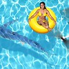 Yellow pool float, ring floating in a refreshing blue swimming pool; Shutterstock ID 254911351; PO: today.com