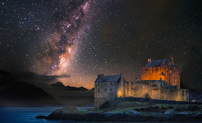 Eilean Donan Castle & The Milky Way. By David Stoddart