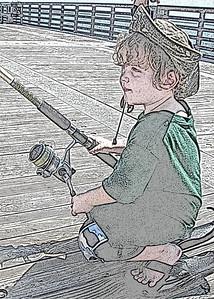 My grandson Nikolai on the pier.