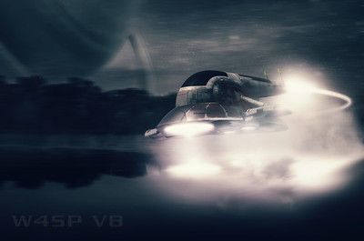 sci-fi scouting space ship photoshop manipulation