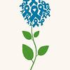 Brest cancer concept flower