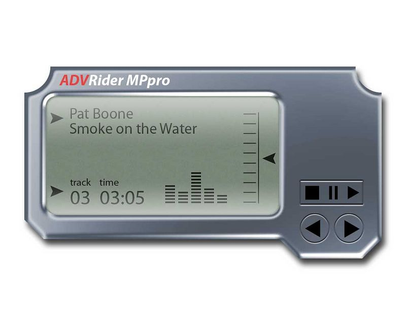 ADVRider MP3 Player - 100% Photoshop