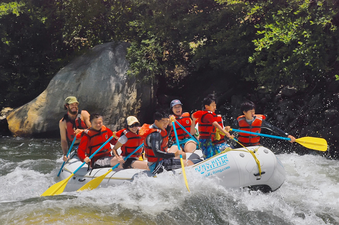Original photo of our White Water Rafting in Kern River.