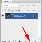 We'll start off by adding a new layer. We want Photoshop to present us with the <i>New Layer</i> dialog when we create this layer so hold down the <i>Alt</i> (mac: <i>Option</i>) key while you click on the <i>New Layer</i> button in the Layers palette.